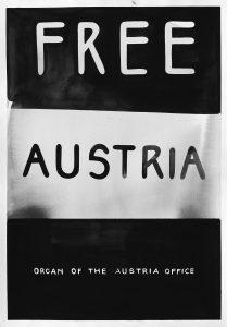 Vladimir Miladinović: Free Austria December 1940, vízfesték papíron, 35x50 cm, 2016. courtesy: Knoll Galerie Wien & artist