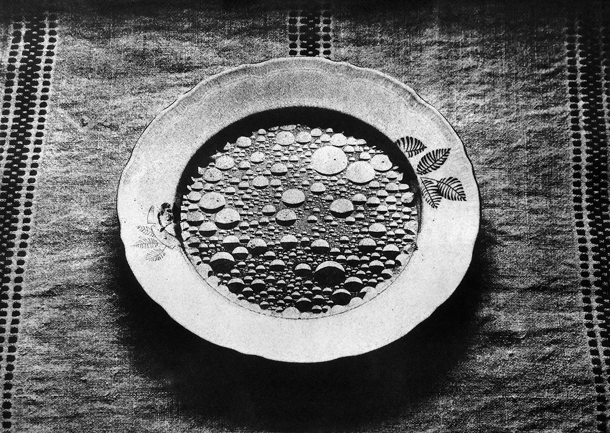 A gyöngyös húsleves – A feltárás című sorozatból, gumi-olaj nyomat, 2017