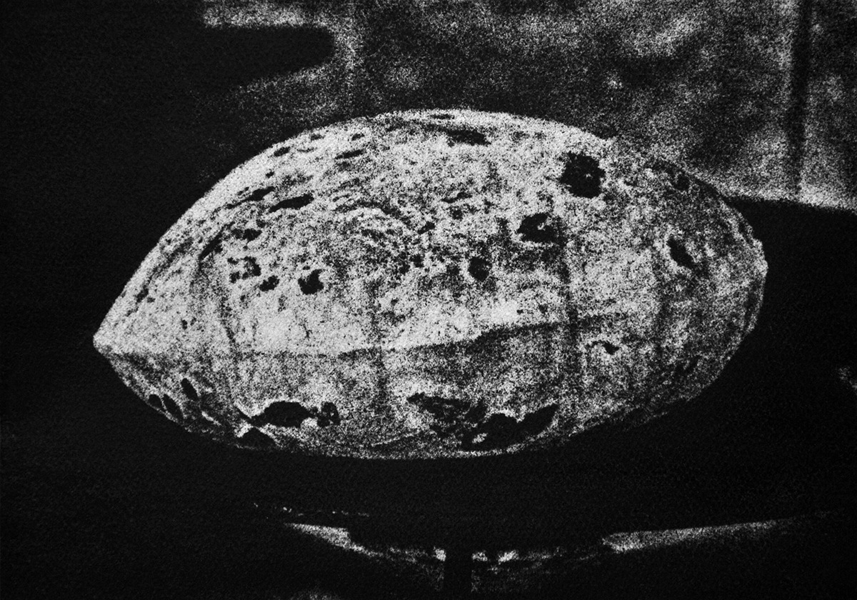 A lélegző krumplilaska – A feltárás című sorozatból, gumi-olaj nyomat, 2017